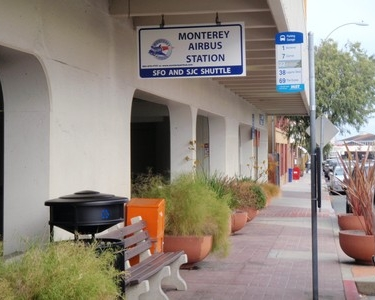 Monterey Airbus Sign & Bench